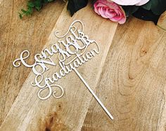 Congratulations On Your Graduation Cake Topper Graduation Cake topper Congrats Grad Graduation Cake Topper Graduation cake decoration SMT
