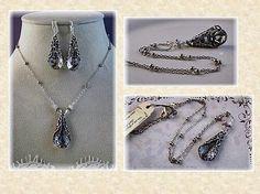 New w/Swarovski Crystal Filigree Pendant Necklace and Earring Set Arrow Necklace, Pendant Necklace, Fashion Group, Women's Fashion, Filigree, Jewelry Stores, Earring Set, Jewelry Crafts, Swarovski Crystals