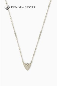 A perfect everyday pendant with a custom triangular shape, the Perry Pendant Necklace in Silver has just the right amount of edge.