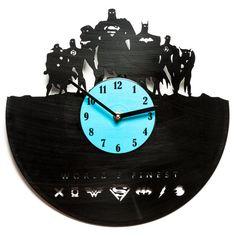 Unique Wall decor  Modern vinyl clock wall by secondlifeforvinyl