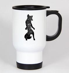 What Does The Fox Say #187 - Funny 14Oz White Travel Mug Youtube Ylvis
