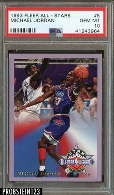6e9da347813638 1993-94 Fleer All Stars  5 Michael Jordan Chicago Bulls HOF PSA 10 GEM
