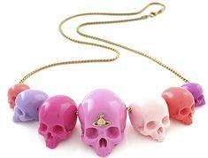 Vivienne Westwood pink skull necklace