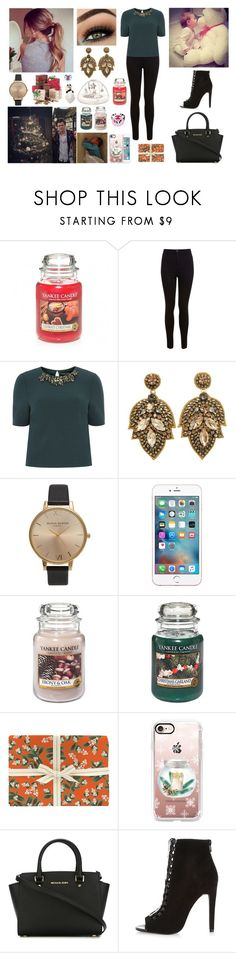 """Day in family at Holmes Chapel for Christmas"" by louisericoul ❤ liked on Polyvore featuring Mamas & Papas, Miss Selfridge, Dorothy Perkins, Topshop, GET LOST, Carter's, Yankee Candle, Rifle Paper Co, Casetify and MICHAEL Michael Kors"