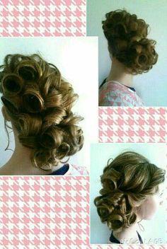 Fancy pin curl hairstyle! #Apostolichair #pincurls #holylocks