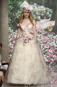Bride Chic: Spring 2010 Wedding Dress Trend- Nature Inspired   OneWed