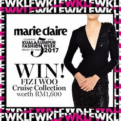 KLFW 2017 is back! Stand a chance to win FIZI WOO Cruise Collection worth RM1600. Head on to our website to find out how. #MarieClaireGiveaway #KLFW2017  via MARIE CLAIRE MALAYSIA MAGAZINE OFFICIAL INSTAGRAM - Celebrity  Fashion  Haute Couture  Advertising  Culture  Beauty  Editorial Photography  Magazine Covers  Supermodels  Runway Models