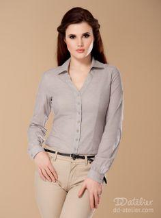 Calm shirt in grey melange