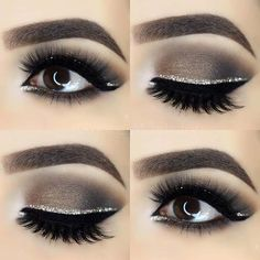 Smokey Eye with Silver Glitter Liner