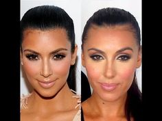 Kim Kardashian - Professional Get The Look Tutorial. This is an easy tutorial and I'm going to try it right now.