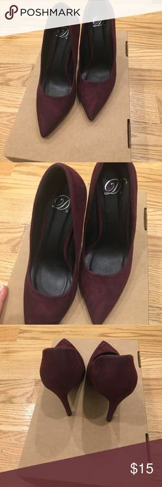 Shoes for saleee Burgundy heels for sale super cute and comfy Shoes Heels