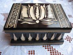Wooden Magic Puzzle Compartment Secret Jewelry Box Case