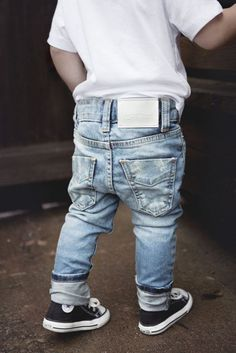 jeans | converse | kids style: My kid would die if I put him in these pants :)