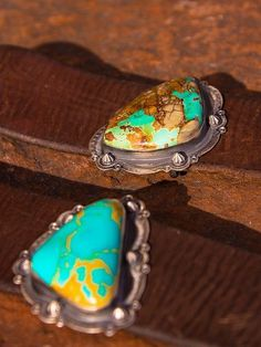 Britt West American Turquoise Cuff, Oval.