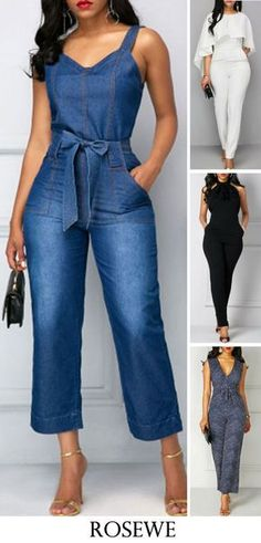 jumpsuits For Women Cool Outfits, Casual Outfits, Fashion Outfits, Womens Fashion, Fashion Trends, Latest Fashion For Women, Romper Outfit, Jumpsuits For Women, Fashion Jumpsuits