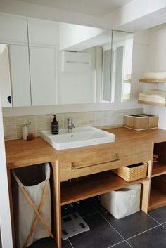 リノベーション、やっておけばよかった!と思うこと | ブログ『リノベと暮らしとインテリア』ここゆこ Home Building Design, Building A House, House Design, Muji Style, Built In Seating, Washroom, Simple House, Interior Design Inspiration, Home Renovation