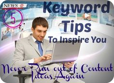 Need keyword ideas for your content? With Google's Hummingbird update in mind, here are five keyword tips to inspire you to create great content that your users will love: http://angelabooth.com/wp/2013/11/07/5-keyword-tips-to-inspire-you-never-run-out-of-content-ideas-again/