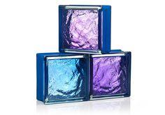 Mini glasblokken in 3 geweldige kleuren met een koel vleugje blauw! Mini