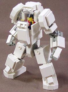 Lego Mech Warrior by Dou Moko- Lego designs translate well in low poly Lego Mecha, Robot Lego, Lego Bots, Lego Spaceship, Lego War, Lego Bionicle, Lego Transformers, Lego Design, Pokemon Lego