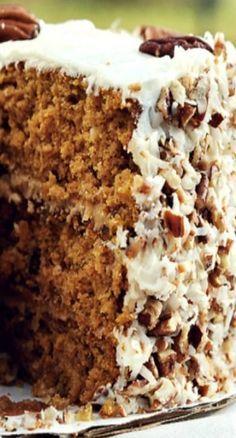 Caramel Pumpkin Italian Cream Cake