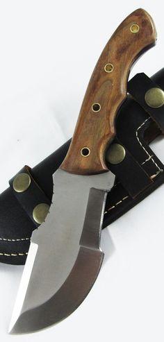Moorhaus Handmade D2 Tool Steel Tracker Knife Blade With Leather Sheath @aegisgears #knifeaddict
