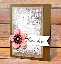 Create With Christy: Timeless Textures Floral Card