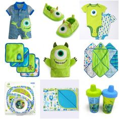 Baby monsters inc! Too cute Más Monsters Inc Nursery, Monsters Inc Baby Shower, Monster Nursery, Babyshower, Baby Time, Cute Baby Clothes, Baby Gear, Our Baby, Future Baby