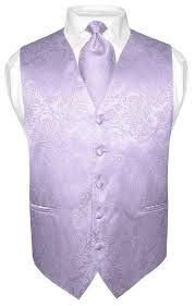 50b693079a6123 Men s Paisley Design Dress Vest   Bow Tie Off-White Cream Bowtie Set