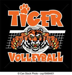 Vector - tiger volleyball design - stock illustration, royalty free illustrations, stock clip art icon, stock clipart icons, logo, line art, EPS picture, pictures, graphic, graphics, drawing, drawings, vector image, artwork, EPS vector art