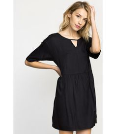 RVCA DRESSES / ROMPERS OUT OF TOWN BABYDOLL DRESS