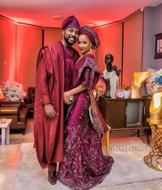 Nigerian Celebrity Weddings- Official Photos From Actors Adesua Etomi & Banky Wellington's Family Introduction African Wedding Attire, African Attire, African Fashion Dresses, African Wear, African Dress, Nigerian Fashion, Nigerian Traditional Wedding, Traditional Wedding Attire, Traditional Weddings
