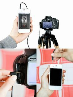 The ioShutter Camera Remote is your camera's lifeline to awesome, joining two of your favoritest things. It's a cord/app combo that lets you control your camera's shutter with your iPhone, iPad, or iPod Touch. It has 6 modes: standard trigger, motion trigger, sound trigger, time-lapse, timer, and bulb. $70