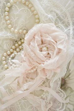 Blush Silk and Tulle Gillyflower Handmade by by Jenneliserose