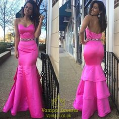 vampal.co.uk Offers High Quality Hot Pink Strapless Sweetheart Backless Beaded Mermaid Prom Dress ,Priced At Only USD $132.00 (Free Shipping)