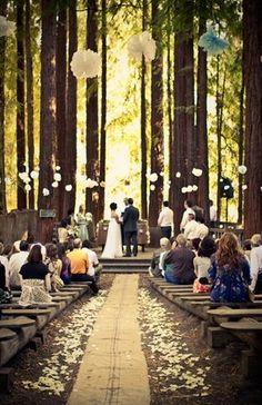 Rustic Wedding Decor..love love love the seating!
