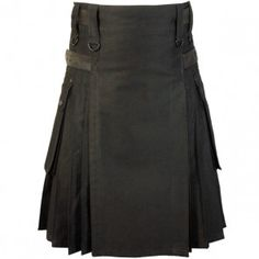 """This fabulous Fashion Kilt is the combination of modern and classic design and comes with Black Leather Straps. Our Fashion Utility kilt is perfectly designed as Fashion and classic wear and can be used for daily work. It comes in heavy 100% cotton cloth that is strong enough for daily use. its all pleats are sewn for a full swing so you feel comfortable during the rough day. It is made of Heavy -Duty Cotton Material and available in 30"""" to 50"""" ."""