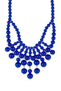 Cobalt Blue Resin Statement Necklace by t+j Designs on @HauteLook