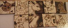 Eeveelutions Pyrography Pendants by weisewoelfin.deviantart.com on @DeviantArt