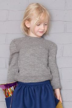 Abbie Grey Knit Sweater - Cotton and Milk - Via Petit Hood