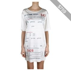 Moschino Dry Cleaning Receipt over-sized viscose t-shirt
