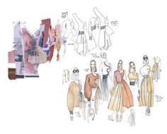 Fashion Sketchbook - graduate collection, fashion design development - fashion sketches; fashion portfolio // Sofia Ilmonen