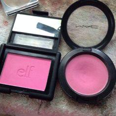 Mac and elf.Elf dupes everything! Nyx Cosmetics, Dupes Nyx, Blush Dupes, Elf Dupes, Skincare Dupes, Drugstore Makeup Dupes, Beauty Dupes, Beauty Makeup, Beauty Hacks