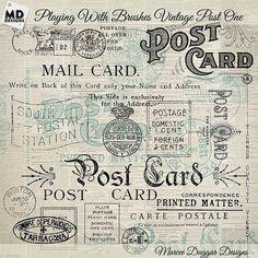 Vintage Postage by Vintage Style Designs on @creativemarket