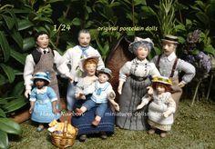 miniature porcelain dolls, scale half inch http://dollsnarbon-cat.blogspot.com.es/p/124-catalogo-munecos-half-scale.html