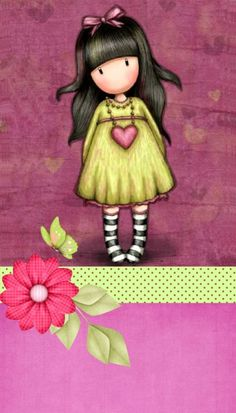 gorjuss tune to fly Little Doll, Little Girls, Cute Images, Cute Pictures, Illustrations, Illustration Art, Copics, Clipart, Cute Wallpapers