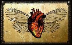 (Anyone know the original artist/source? Heart With Wings Tattoo, Anatomical Heart, Human Heart, Anatomy Art, Great Tattoos, Sacred Heart, Heart Art, Heart Shapes, Body Art