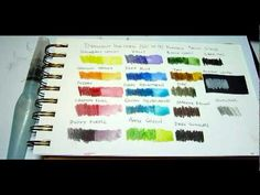 InkTense set overview - see the color set in action.