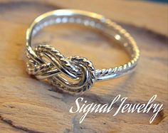 sterling silver figure 8 knot ring - bridesmaid gift - love knot - friendship - promise ring- tie the knot