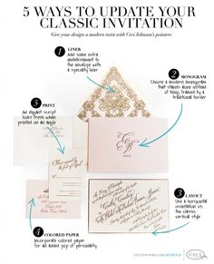 Ceci of New York tips on updating a classic invitation using Belluccia Calligraphy font