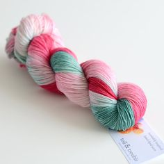 **This yarn is dyed to order especially for you. Please allow 2-4 weeks**    My grandmother loved roses, and I love the pretty pops of color in my
